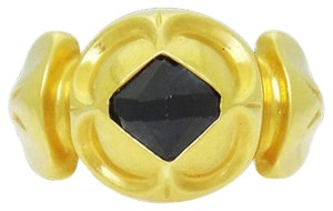 Other size 6, 14k yellow gold, 0.40 ct. tw. black onyx, solitaire ring