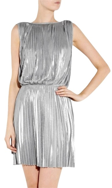 Preload https://item2.tradesy.com/images/silver-lam-above-knee-cocktail-dress-size-2-xs-1699356-0-0.jpg?width=400&height=650