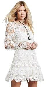Free People short dress Ivory Boho Springboho on Tradesy