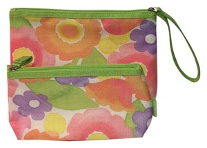 Clinique Set Of 2 Floral Cosmetic Bags