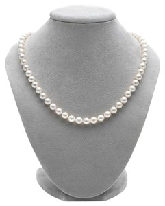 Bloomingdale's Classic White Cultured Japanese Akoya Pearl Necklace
