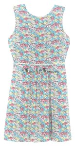 Matilda Jane short dress Aqua, Blue, Pink, Yellow Floral Flare on Tradesy