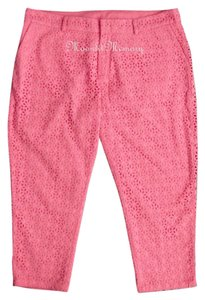 Garnet Hill New Without Tags Capris Pink