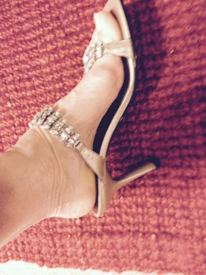 Enzo Angiolini Sexy Gold with Crystals Sandals
