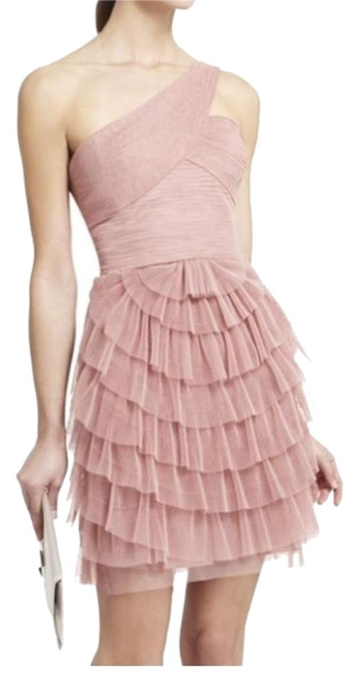 8d4bcf9a427d BCBGMAXAZRIA Blush Pink Pleated Above Knee Formal Dress Size 2 (XS ...