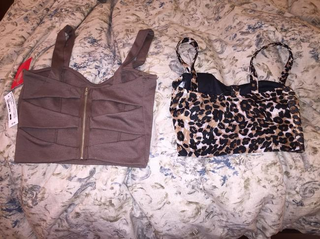 Foreign Exchange Top Brown/leopard Print