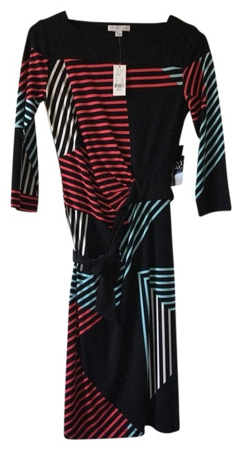 New York & Company short dress Black, White, Coral, Aqua on Tradesy