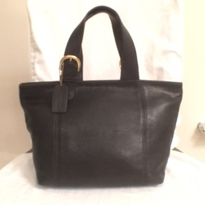 Coach Tote Vintage Leather Handbag Satchel in Black