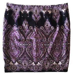 INC International Concepts Mini Paisley Mini Skirt Multicolor