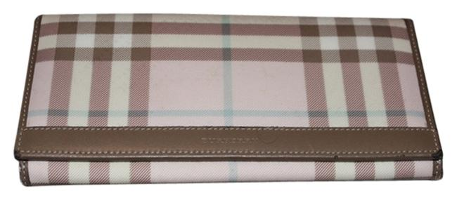 Item - Taupe Cream Pink & Blue Wallet