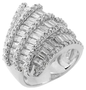 "Victoria Wieck Victoria Wieck 5.24ct Absolute Baguette and Round ""Ribbon"" Ring - Size 8"