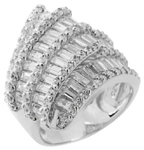 "Victoria Wieck Victoria Wieck 5.24ct Absolute Baguette and Round ""Ribbon"" Ring - Size 6"