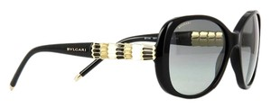 BVLGARI NEW BVLGARI Sunglasses 8114-A 501/11 Black/White/Gold Serpenti Frames