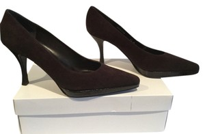 Stuart Weitzman Heels Pointed Toe Made Spain Brown suede leather and embossed leather Pumps