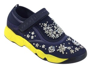 Dior Christian Sneakers Navy Flats