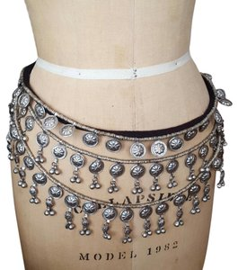 Free People Metal Layered Belt with Bells
