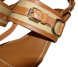Ralph Lauren Pristine Leather Tan Sandals