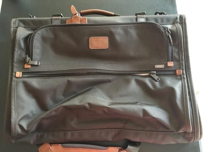 Item - Tuning Trifold Brown with Brown Leather Trim Nylon Weekend/Travel Bag