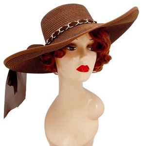 Brown Beach Sun Cruise Summer Large Wide Brim Floppy Hat