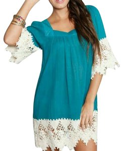 Umgee short dress Teal Boho Bohemian Hippiechic on Tradesy