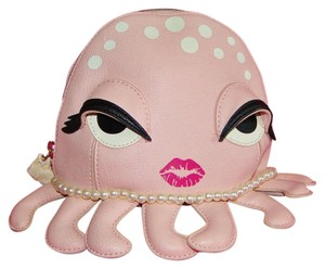 Betsey Johnson Kitsch Octopus Blush Cosmetic Bag Betsy Johnson