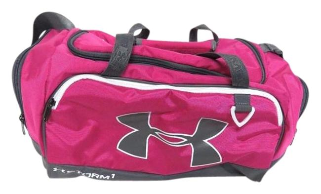 Item - Duffel Tropic One Size Pink & Grey Nylon Weekend/Travel Bag