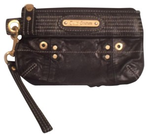 Juicy Couture Leather Clutch Wristlet in Black