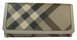 Burberry Gray Nova Check & Leather, Long Continental Wallet