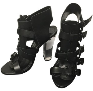 Steve Madden Black and clear heels Sandals