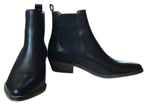 Ivylee Handmade Anilin Leather Black Boots