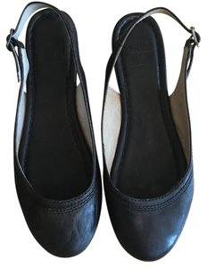 Frye Leather Slingback Ballet Black Flats