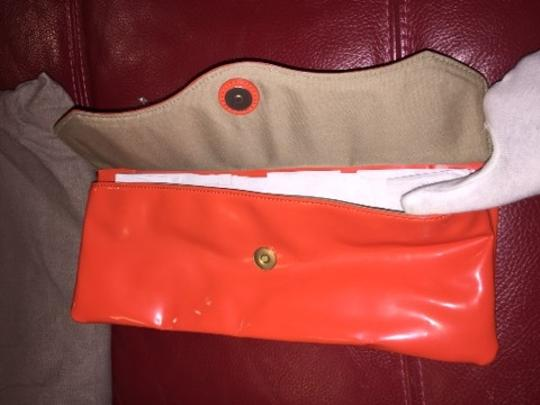 T Tahari Orange Clutch