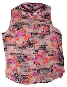 Forever 21 Print Sleeveless Top Multicolored
