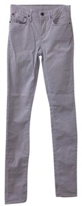Helmut Lang Grey Cord Straight Leg Jeans-Light Wash