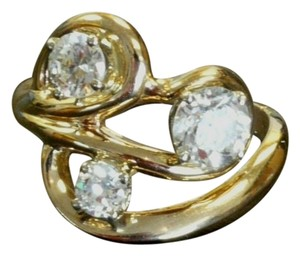 Other Lady's 14kt Yellow Gold CUSTOM Diamond Ring 3 Round Cut Diamonds