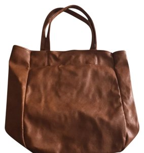 Forever 21 Tote in Dark Tan/Brown