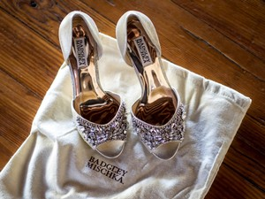Badgley Mischka 'candance' Crystal Embellished D'orsay Pump Wedding Shoes
