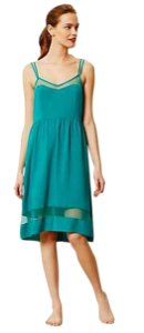 NWT Turquoise Maxi Dress by Anthropologie Mesh Inserts