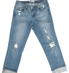 Jolt Distressed Crop Boyfriend Crop Boyfriend Capri/Cropped Denim