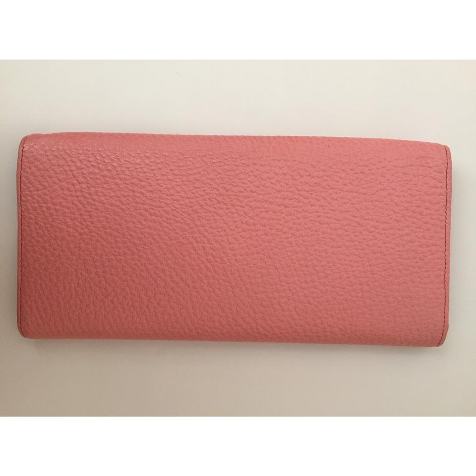 6442967453e4 Gucci Bamboo Style  117594 Pink Pebbled Leather Clutch - Tradesy