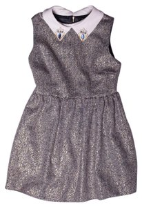 Romwe Gold Holiday Winter Dress
