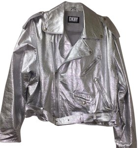 DKNY Leather Motorcycle Jacket