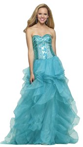 CLARISSE Ball Gown Organza Ruffles Sweetheart Corset Dress