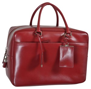 Prada Satchel in Cherry Red