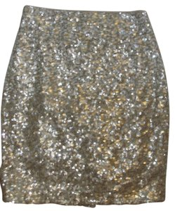 ST John Courture Sequin Skirt Ombre gold silver