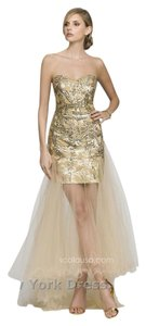 Scala Sheer Skirt Cocktail Homecoming Sequin Dress