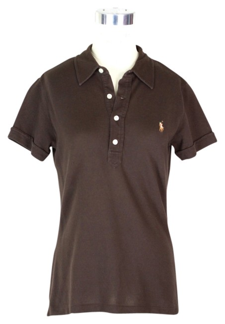 Item - Brown Polo Tee Shirt Size 14 (L)