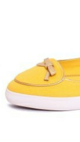 Tory Burch daisy yellow Flats