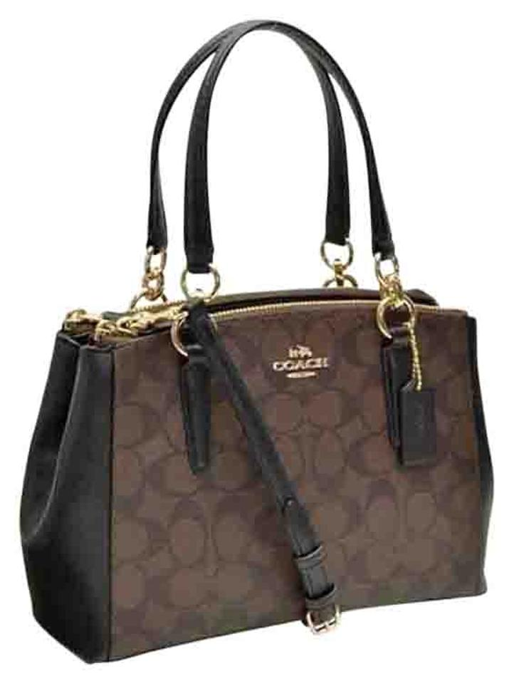6f3c84173 Coach Madison 36718 Christie Carryall Satchel in Black Brown Image 0 ...