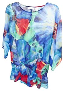 Chico's Top Blue Multi Color